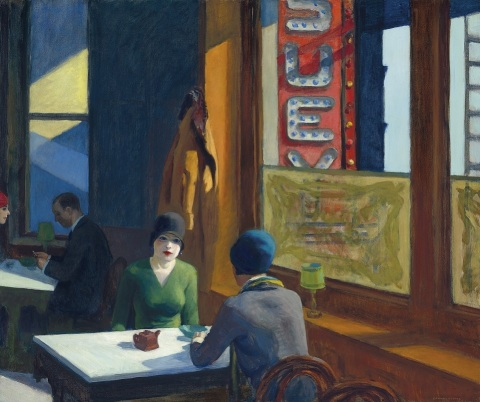 EDWARD HOPPER (1882-1967), Chop Suey, oil on canvas, 32 x 38 in. Painted in 1929. Estimate in the re ...