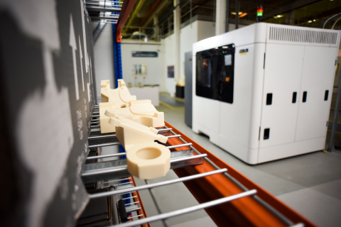 3D printed tooling produced on the Stratasys F900 Production 3D Printer (Photo: Business Wire)