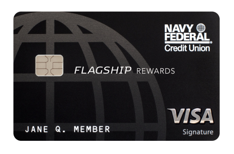 Navy Federal Visa Signature Flagship Rewards Credit Card (Photo: Business Wire)