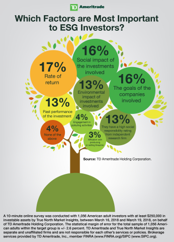 TD Ameritrade's Socially Responsible Investing Survey infographic (Graphic: Business Wire).