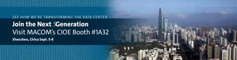 MACOM will be showcasing its 25G laser portfolio at the China International Optoelectronic Expositio ...