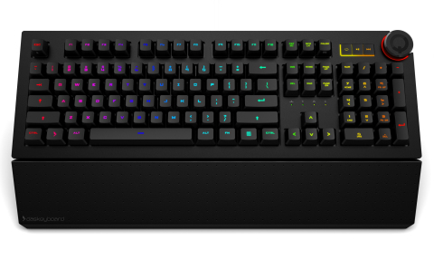 The Das Keyboard 5Q is a cloud-connected, smart RGB mechanical keyboard that allows users to display color notifications on each key. (Photo: Business Wire)