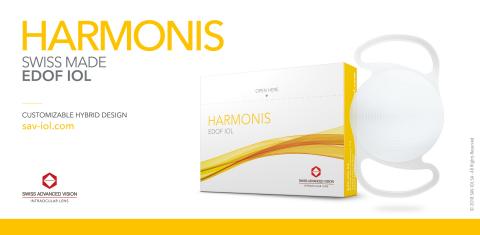 Harmonis - The first customizable EDOF IOL for cataract surgery (Photo: SAV-IOL SA)
