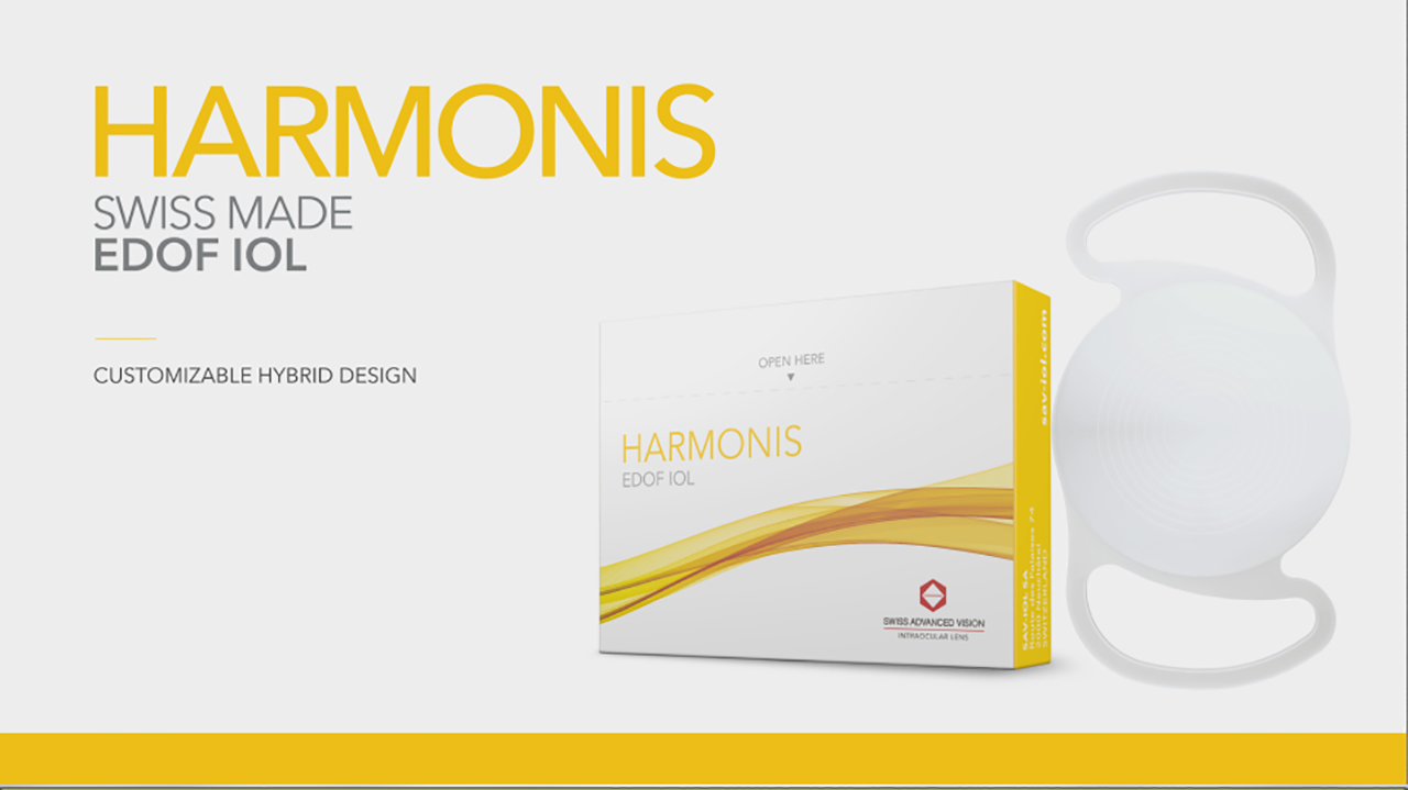 Harmonis - The first customizable EDOF IOL for cataract surgery (Video: SAV-IOL SA)
