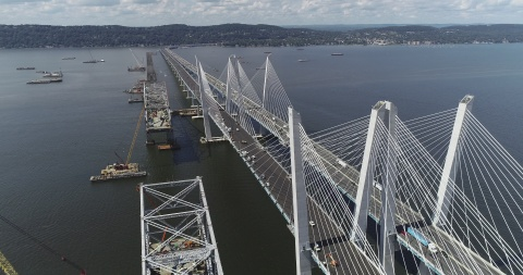 The new Governor Mario M. Cuomo Bridge spanning the Hudson River. (Photo: Business Wire)