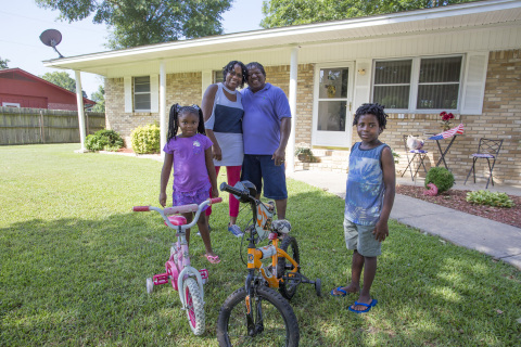 An $8,500 Homebuyer Equity Leverage Partnership grant from Centennial Bank and the Federal Home Loan Bank of Dallas made it possible for Mr. Jackson to buy his first home. (Photo: Business Wire)