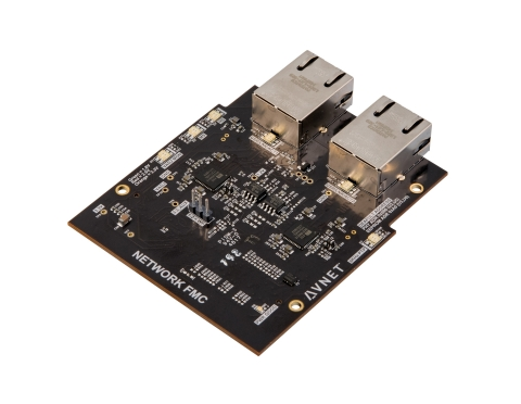 The new Network FMC Module from Avnet offers designers of industrial IoT applications industry-leading Gigabit Ethernet switching at less than half the cost. (Photo: Business Wire)