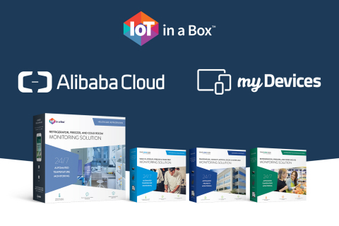 myDevices and Alibaba Cloud partner to sell IoT in a Box™ solutions in China through Alibaba Cloud's reseller distribution network. (Graphic: Business Wire)