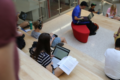 In Texas A&M University's new Zachry Engineering Education Complex, built on an Aruba wireless infrastructure, engineering students will benefit from a new modern and collaborative environment. (Photo: Business Wire)