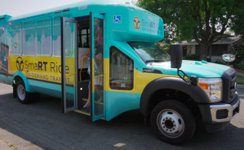 Sacramento Regional Transit (SacRT) SmaRT Ride shuttle (Photo: Business Wire)