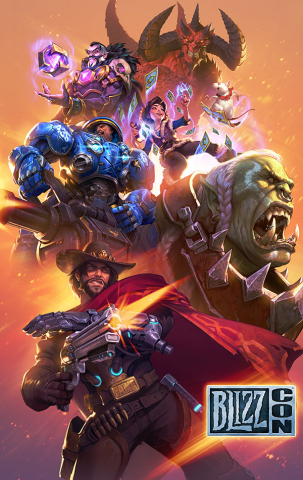 The BlizzCon 2018 Virtual Ticket brings Blizzard Entertainment's gaming convention to you. (Graphic: ...
