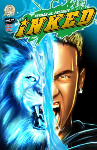 The cover art for Inked: Art Animates Life #1 from Neymar Jr. Comics. (Graphic: Business Wire)