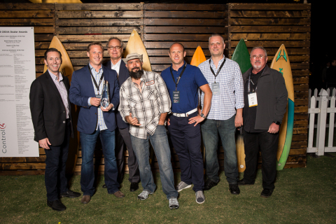 Left to right: Bryce Judd (Control4), Robert Smolen (Abt), Martin Plaehn (Control4), David Koller (Control4), Lukasz Janowicz (Abt), Greg Porthan (Abt), Kevin Garretson (Control4). (Photo: Business Wire)