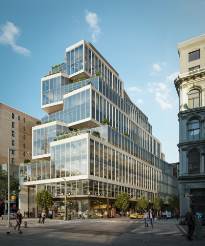 Columbia Property Trust and Normandy Real Estate Partners LLC have agreed to form a joint venture to develop 799 Broadway, a new 12-story, boutique loft-style office building set to deliver in Manhattan's Midtown South in 2020. Image: Binyan Studios (www.binyan.com.au)