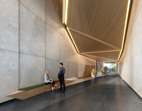 799 Broadway, a new office building to be developed by Columbia Property Trust and Normandy Real Estate Partners, will offer 182,000 square feet of boutique office space for New York's most progressive and creative companies. Image: Binyan Studios (www.binyan.com.au)