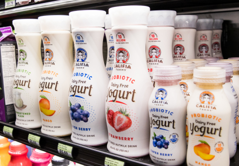 Califia Farms accomplished unprecedented success with the launch of its new line of Probiotic Dairy Free Yogurt Drinks, which has been broadly accepted with cross-channel adoption at conventional grocery, natural and specialty, convenience store, drug and mass retailers. (Photo: Business Wire)