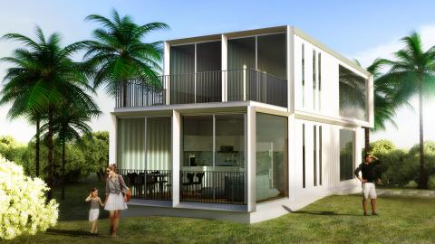 Grimshaw Architects Modular Single & Multi-Family Home Rendering (Source - Grimshaw Architects)