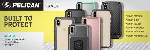 Pelican's complete line of phone cases for the newly revealed iPhone® Xs, iPhone® Xs Max and the iPh ...