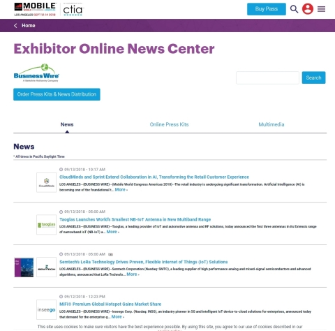 Mobile World Congress Americas Exhibitor News and Digital Media Available (Graphic: Business Wire)