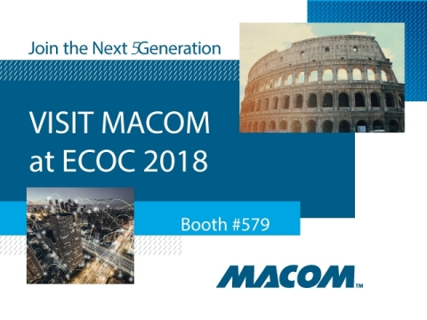 MACOM will showcase its industry leading PAM-4, Silicon Photonics and 64 GBaud products and solution ...