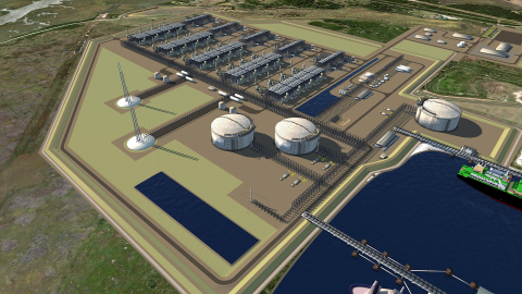Rendering of Tellurian's Driftwood LNG (Graphic: Business Wire)