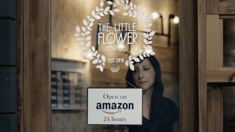 Ms. Holly Rutt, co-founder of Little Flower Soap Co. based in Michigan, is the U.S. business owner featured in the new Amazon national TV ad. (Photo: Business Wire)