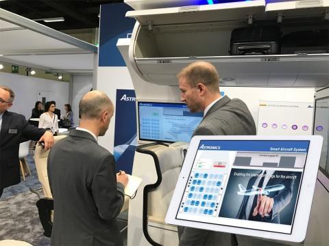 Astronics is demonstrating new technologies at APEX Expo, including its new Intelligent Bin Solution. (Photo: Business Wire)