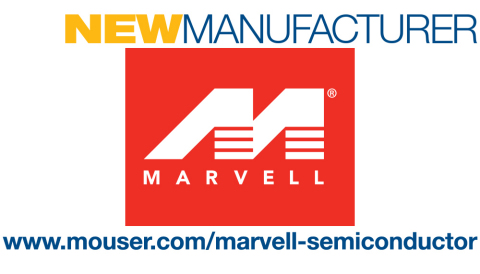 Mouser Electronics announces a global distribution agreement with Marvell Semiconductor, a provider of storage, processing, networking, security and connectivity semiconductor solutions. Mouser will distribute Marvell industry-leading Fast Ethernet and Alaska Gigabit Ethernet PHY transceivers. (Graphic: Business Wire)
