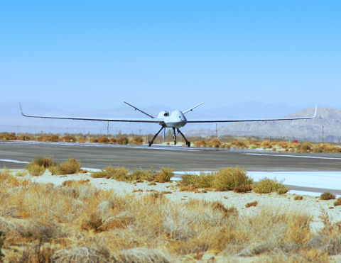 """""""This new, all-weather capability greatly increases the autonomy, flexibility, combat effectiveness and safety of the MQ-9 Reaper for the USAF,"""" said David R. Alexander, president, Aircraft Systems, GA-ASI. """"Adding this level of automation will reduce the deployment burden of the warfighter and expand the scope of missions that can be flown by Air Force MQ-9s."""" (Photo: Business Wire)"""
