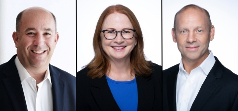 Marc Berger (Senior Vice President and General Counsel), Ellenmarie Rhone (Senior Vice President, People and Culture) and Don Butler (Vice President, Life Science, Commercial) (Photo: Business Wire)