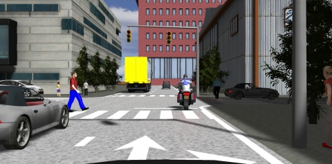 An image of the virtual driving environment created using the mock autonomous driving imaging technology, based on the high-definition software for developing 3D games, which Hyundai Mobis is currently developing. (Graphic: Business Wire)