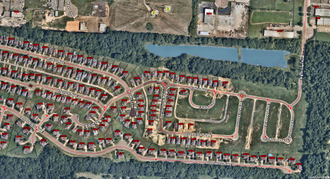 Shelby County, Tennessee, Emergency Communications District integrates Nearmap's HD aerial maps directly into ArcGIS to geocode addresses and developments. (Graphic: Business Wire)