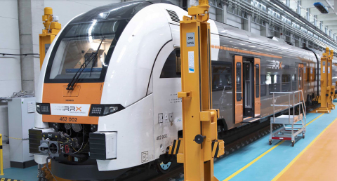 The Siemens Mobility RRX Rail Service Center is Siemens' first digital rail maintenance center, with Stratasys FDM 3D printing at the heart of its servicing operation (Photo: Business Wire)