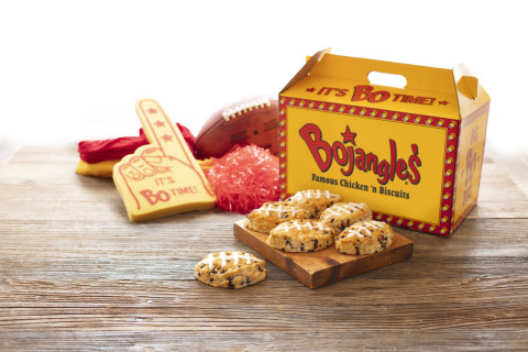 Bojangles' Football-Shaped Bo-Berry Biscuits are back at participating restaurant locations for a limited time. (Photo: Bojangles')