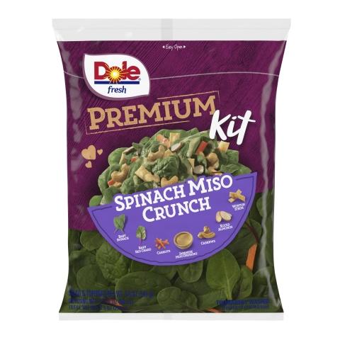 DOLE® Spinach Miso Crunch Premium Salad Kit (Photo: Business Wire)