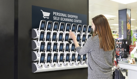 Zebra's PS20, its sixth generation personal shopping solution, allows shoppers to scan items as they go, streamlining the checkout experience. (Photo: Business Wire)