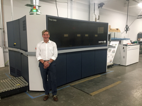 Mercury Print Productions CEO John Place takes his operations to new heights thanks to the Xerox Trivor(R) 2400 High Fusion Inkjet Press with Color Hike technology.