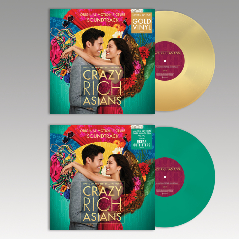 """WaterTower Music will release two vinyl versions of the """"Crazy Rich Asians"""" movie soundtrack -- one gold and one emerald green - on December 7, 2018. (Photo: Business Wire)"""