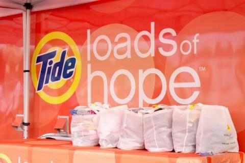 Tide Loads of Hope Mobile Laundry Unit Set-up (Photo: Business Wire)