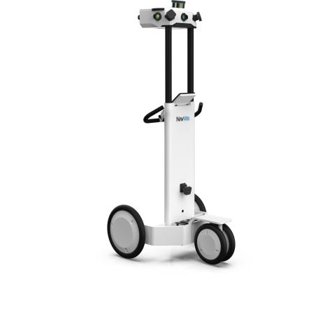 NavVis M6 is a fully-integrated, cart-based system designed for large-scale indoor mapping. (Photo: Business Wire)