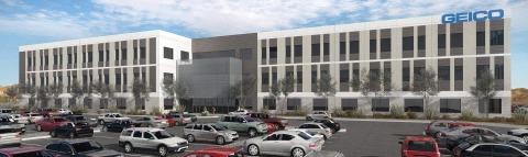 Rendering of GEICO's new Tucson regional office (Bourn Companies)