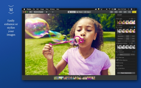 As a native extension, Motif users can edit, enhance, and stylize all imagery within Apple Photos  (Photo: Business Wire)