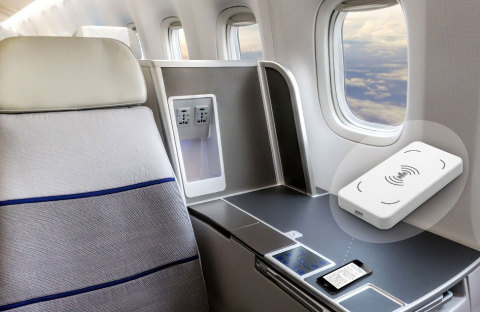The wireless charging module from Astronics AES is achieving rapid market adoption for aircraft seat ...
