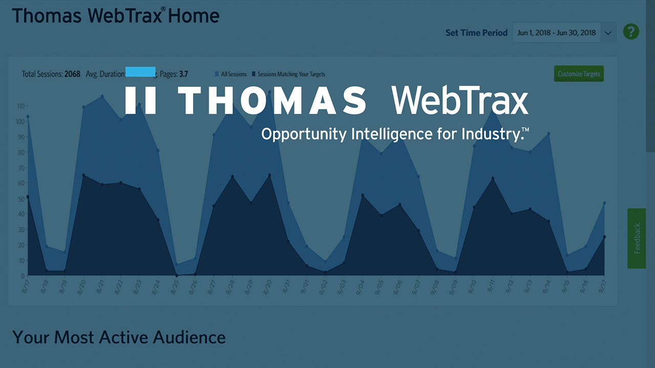 Track, identify, & engage high value opportunities like never before with Thomas WebTrax® 3.0.