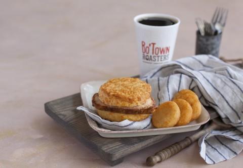 Bojangles' popular Pork Chop Griller Biscuit is now being served at your local participating Bojangl ...