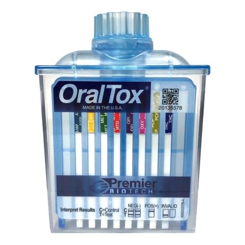 Premier Biotech Inc. OralTox - FDA 510(k) Cleared Rapid Oral Fluid Drug Testing Device https://www.premierbiotech.com (Photo: Premier Biotech Inc.)