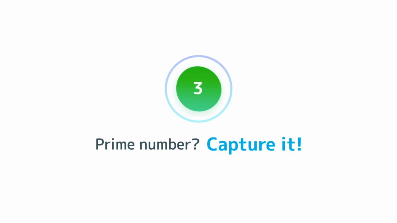 "Smartphone game application ""Panasonic Prime Smash!"""