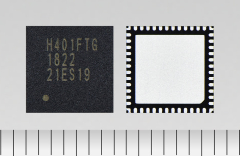 "Toshiba: An integrated dual H-bridge DC brushed motor driver IC ""TB67H401FTG"" that includes an output current limiter function. (Photo: Business Wire)"