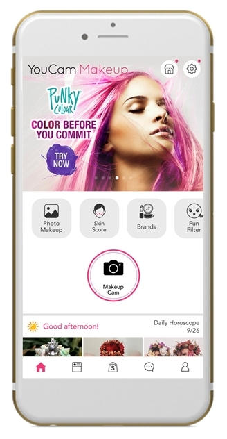 Youcam Makeup Punky Colour Launch Hyper Realistic Virtual Hair Color Trials That Combine The Best Of Artificial Intelligence And Augmented Reality Technologies Business Wire