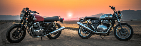Royal Enfield releases details on the North American pricing and availability for the company's new twin motorcycles. With a starting MSRP of $5799, the Interceptor INT 650 and Continental GT 650 provide fun, capable and affordable offerings in the underserved middleweight category.  (Photo By: EL3 Productions)